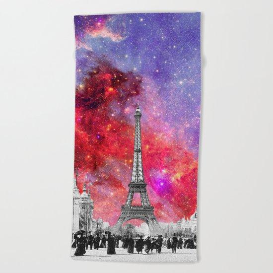 NEBULA VINTAGE PARIS Beach Towel