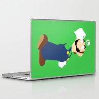 luigi Laptop & iPad Skins featuring Luigi by Valiant