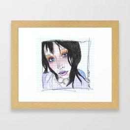sunset eyes Framed Art Print