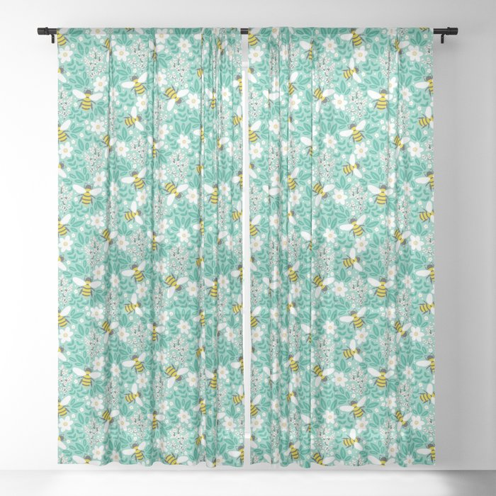 Blooms & Bees Sheer Curtain