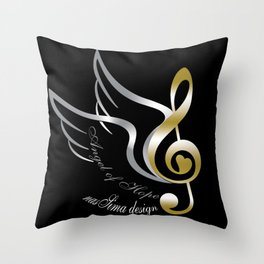 Angel of Hope Wings Throw Pillow