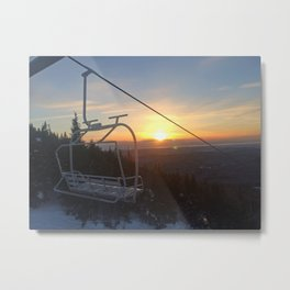 Last Chair of the Day Metal Print