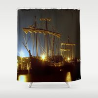 ships Shower Curtains featuring Tall Ships by Forand Photography