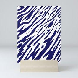 Tiger In The Flow - Blue Mini Art Print