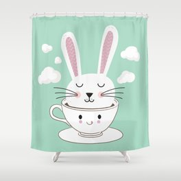 Take a Cup of Bunny Shower Curtain