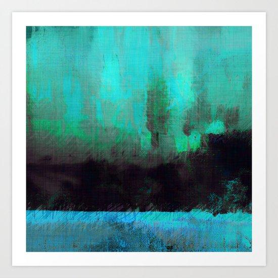 Lysergic Horizon Art Print