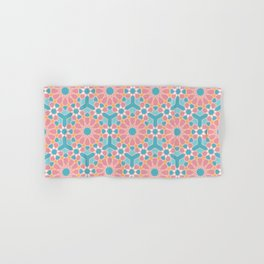 Colorful islamic pattern pink and blue Hand & Bath Towel