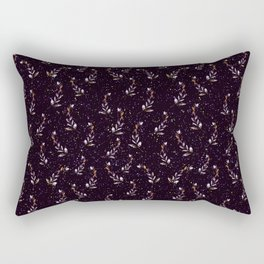 Purple Floral Rectangular Pillow