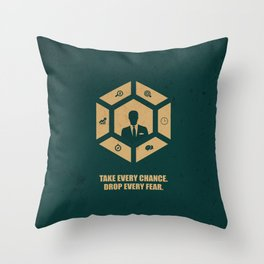 Lab No. 4 - Take Every Chance Drop Every Fear Corporate Start-up Quotes Throw Pillow