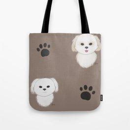 Pattern of Pups Tote Bag
