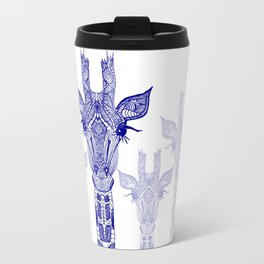 GIRAFFE BLUE Travel Mug