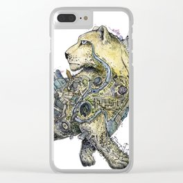 Independent leopard as a symbol of Kazakhstan Clear iPhone Case