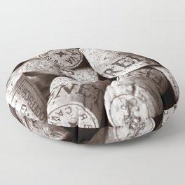 Cork of Champagne - Brown Duplex Floor Pillow