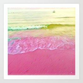 Crystal Waves Art Print