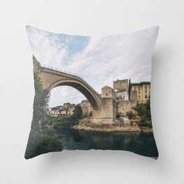 Mostar, Bosnia and Herzegovina Throw Pillow
