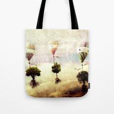 tree - air baloon Tote Bag