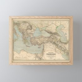Turkey, Balkan Peninsula Map (1855) Framed Mini Art Print