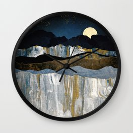 Painted Mountains Wall Clock