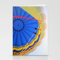 hot air balloon Stationery Cards featuring BALLOON LOVE - Hot Air Balloon by Brian Raggatt