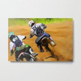 Motocross Dirt Racers Metal Print