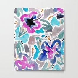 Blue Hibiscus Metal Print