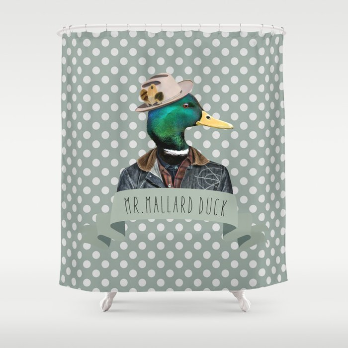 MALLARD DUCK Shower Curtain By Neverdieshop