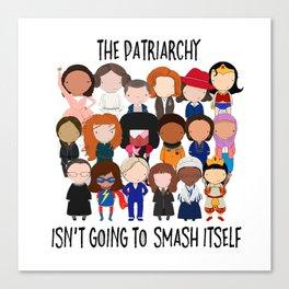 Patriarchy, SMASH Canvas Print
