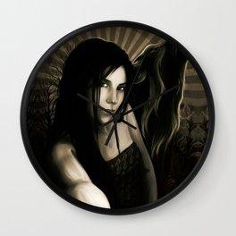SheWolf Dark Night Wall Clock
