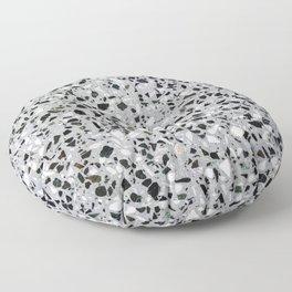 Concrete terrazzo marble texture speckle pattern gray Floor Pillow