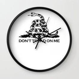 Don't Tread On Me Gadsden Wall Clock
