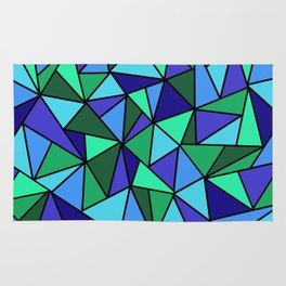 Blue Triangulation  Rug