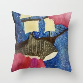 Sky Sailing Throw Pillow