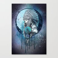 dreamcatcher Canvas Prints featuring Dreamcatcher by Marine Loup