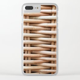 Rustic basket Clear iPhone Case