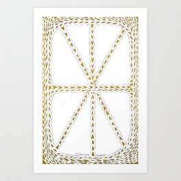 Patterns of Gold Art Print