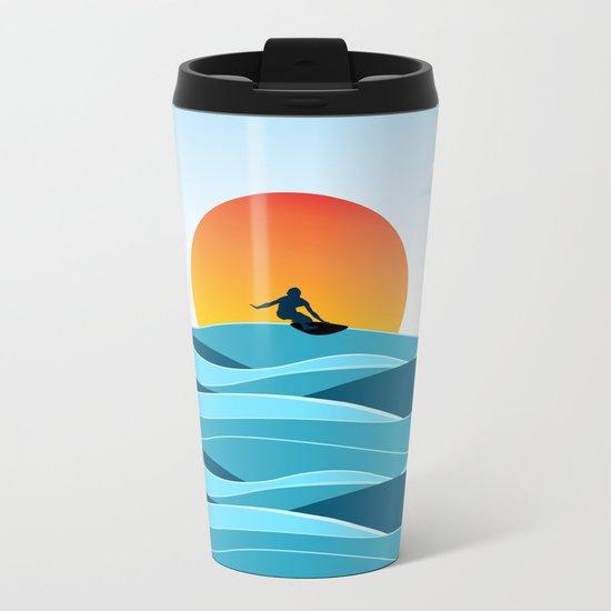 Surfing 1 Metal Travel Mug