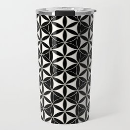 Flower of Life Pattern black-white Travel Mug