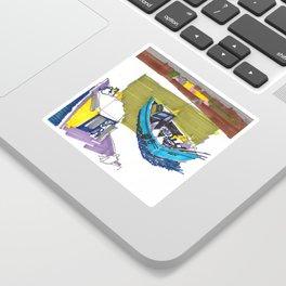 Fishing boats Sticker