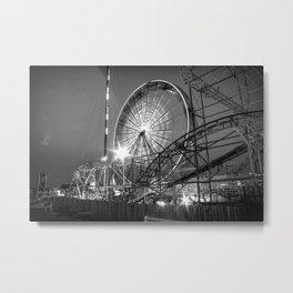 Amusement Park Fun at Night Metal Print
