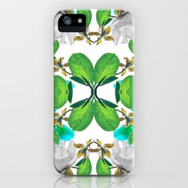 Abstract Nature Print iPhone Case