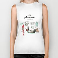 venice Biker Tanks featuring Venice by Volha