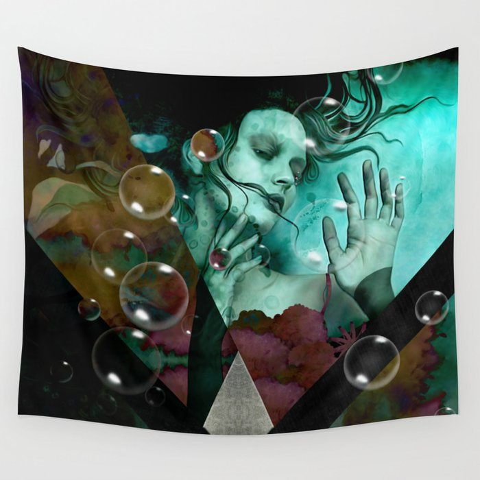 """""""The witch of the water forest"""" Wall Tapestry"""