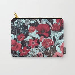 Poppy Floral Pattern Carry-All Pouch