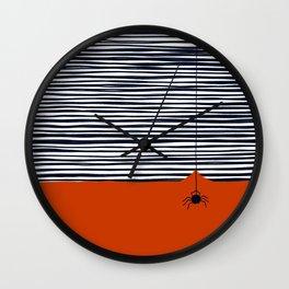 Black spider Wall Clock