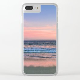 meet me by the ocean at sun down. Clear iPhone Case