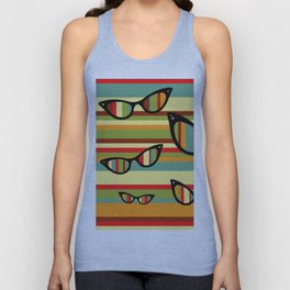 sun glasses Unisex Tank Top