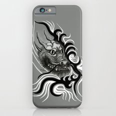 Dragon in Tattoostyle , black - white and grey Design Slim Case iPhone 6s