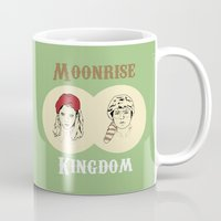 moonrise kingdom Mugs featuring Moonrise Kingdom  by Sheena White for Winsome Gallery