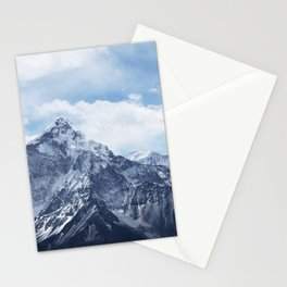 Snowy Mountain Peaks Stationery Cards