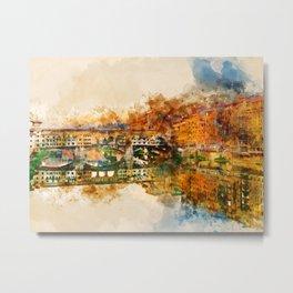 Florence, Ponte Vecchio Metal Print